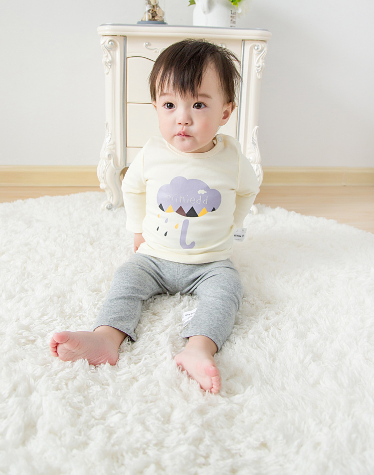 2017 Toddler Kids Baby Boys Girls Infant spring Autumn Long Sleeve cartoon Fox T-Shirt Tops Clothing Cotton cloud rain T-Shirts (19)