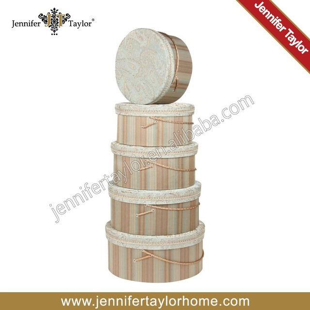 Jennifer Taylor Home Storage Fabric Hat Boxes 3128 593595