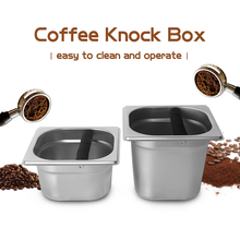 Knock Box Coffee Powder Slag Pan Height 10cm 15cm with Plastic Rubber Powder Container Professional Coffee Machine Accessories