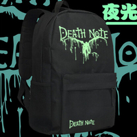 Death Note Cosplay kylinzhang Yagami Light Black Cartoon Anime Backpack noctilucence Oxford Schoolbag