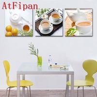 3 PCS Contemporary Artwork Prints W Canvas Wall Art Painting Modern Home Kitchen Dinning Set Oil