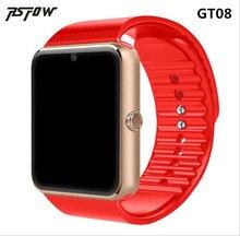 RsFow GT08 presentes relógio Android Inteligente Relógio Para Homens Mulheres Gril relógio de Pulso Smartwatch Inteligente Eletrônica Com Câmera SIM Card TF