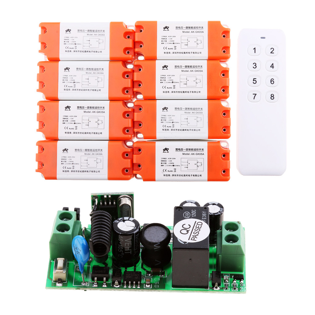1 Channel AC85-250V/DC15-120V 10A RF Wireless Remote Control Switch Receiver Home Electric LED Light Motor Controller 40km h 4 wheel electric skateboard dual motor remote wireless bluetooth control scooter hoverboard longboard