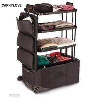 CARRYLOVE длинное путешествие чемодан серии 26 дюймов, водостойкие Спиннер для багажа бренд Дорожный чемодан