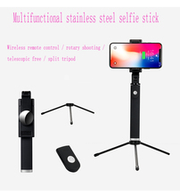 Live Wireless Bluetooth Mobile Phone Tripod Selfie Stick With Rearview Mirror Integrated Folding Horizontal And Vertical