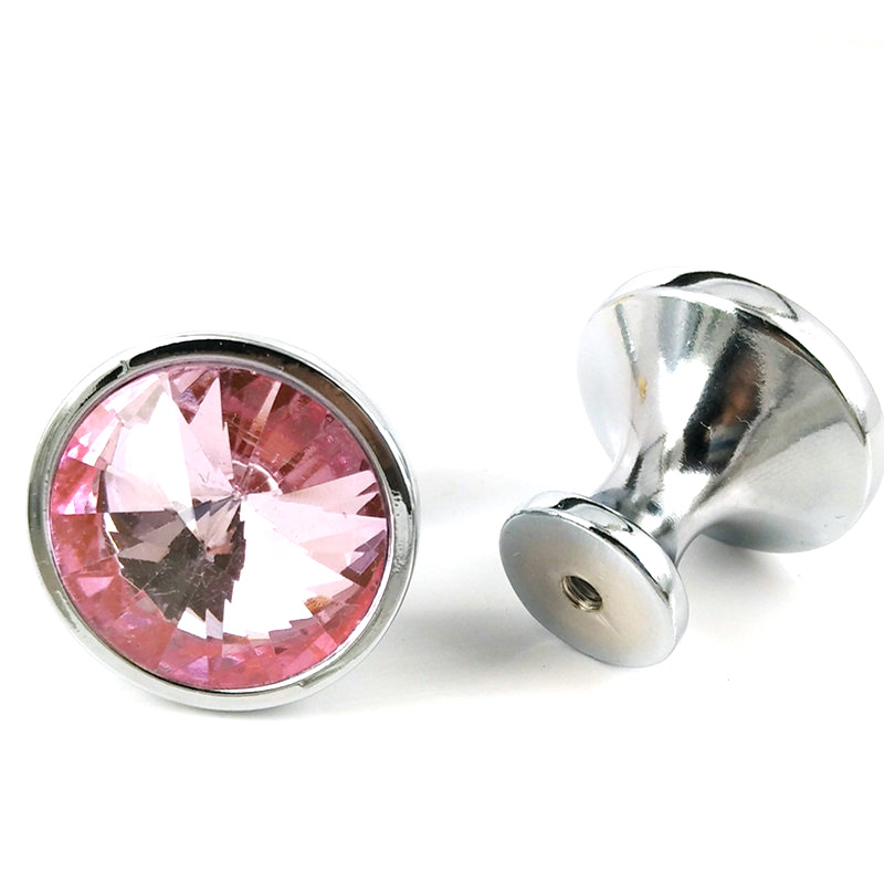 pink glass drawer pulls