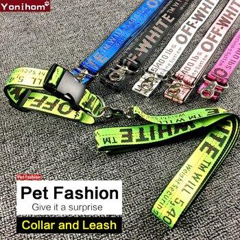 Halsband bedruckt/bestickt in 6 Farben/Muster, exclusive passender Leine
