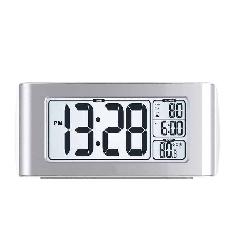 US $15.73 21% OFF|Desk Alarm Clock White Backlight Snooze Timer Projector Electronic Desktop Digital LED Despertador Watch Reveil Matin in Alarm