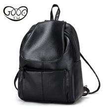 Goog. Yu отдыха личности женщины мини-путешествия рюкзак простая повседневная школьная сумка среднего размера кожаный рюкзак девушки ежедневно мешок