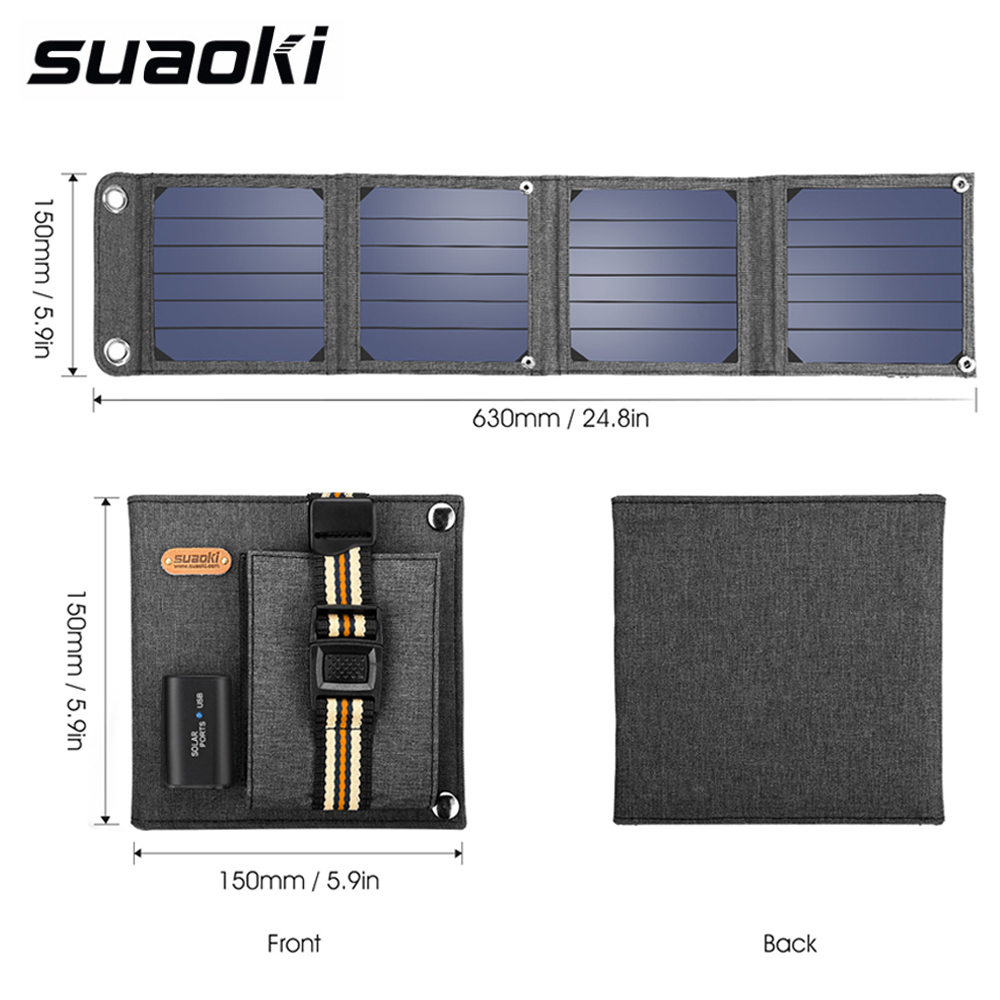 Suaoki 14W Solar Cells Charger 5V 2.1A USB Output Devices Portable SunPower Solar Panels for Smartphones Laptop цены онлайн