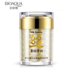 60g Brand BIOAQUA Silk Protein Deep Moisturizing Face Cream Shrink Pores Skin
