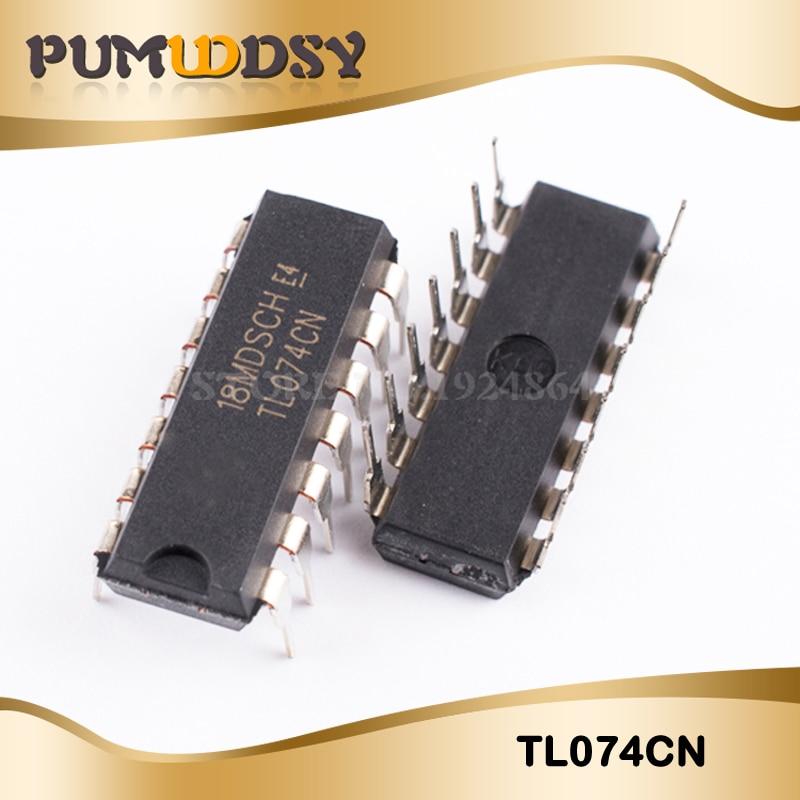 10pcs TL074 TL074CN DIP-14 IC OP AMP QUAD JFET