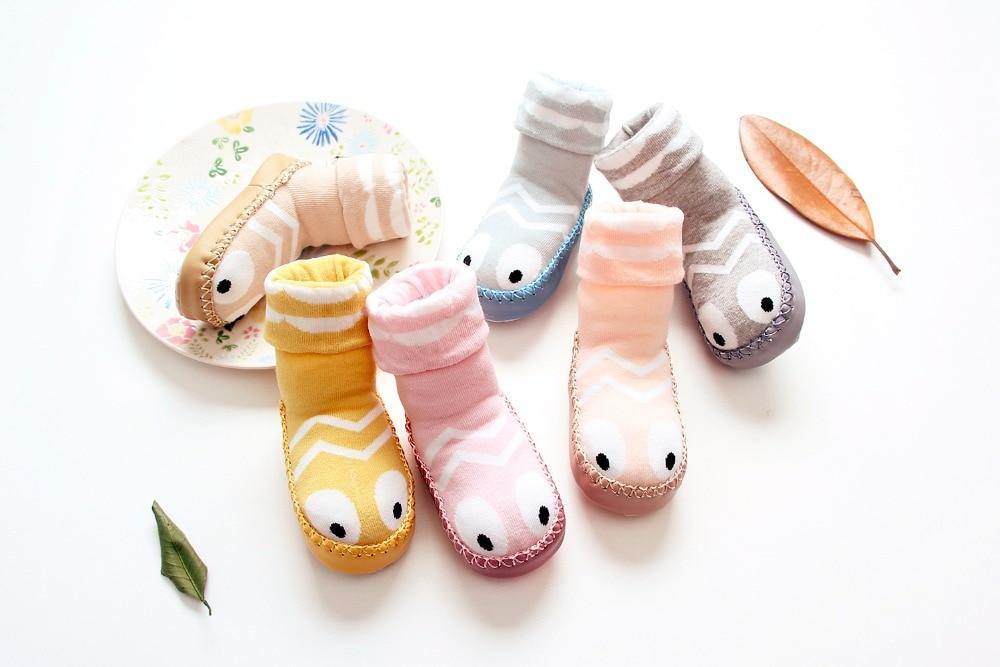 Children Cotton Baby Socks Newborn Winter Anti Slip Baby