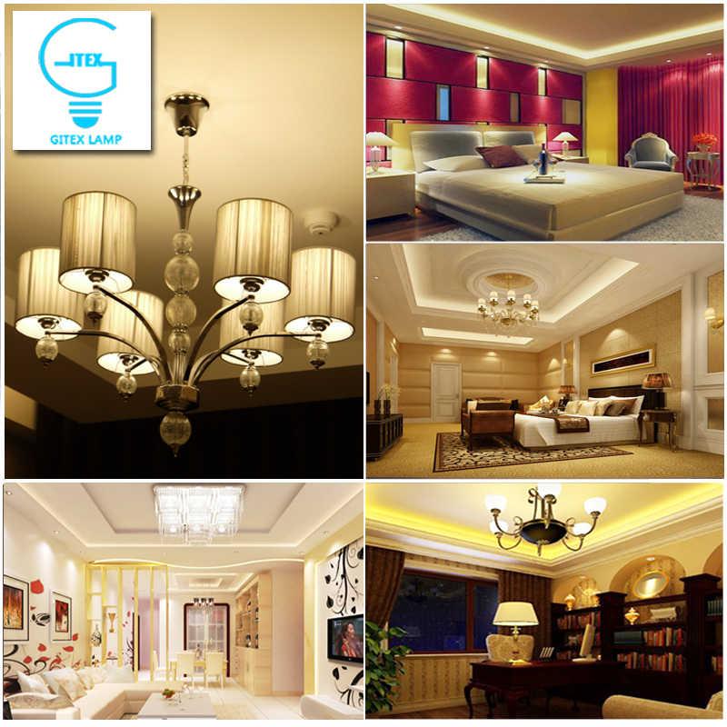 โคมไฟข้าวโพด LED E27 220 V 3 W 4 W 5 W 7 W 8 W 12 W 15 W หลอดไฟ LED E14 110 V B22 5736 SMD Lampada Led Spotlight หลอดไฟ AC 85-265 V