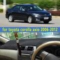 Carro-styling dashmats acessórios tampa do painel para toyota corolla axio 2006 2007 2008 2009 2010 2011 2012 rhd