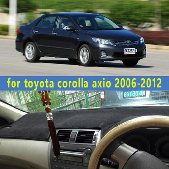 dashmats car-styling accessories dashboard cover for toyota corolla axio 2006 2007 2008 2009 2010 2011 2012 rhd image