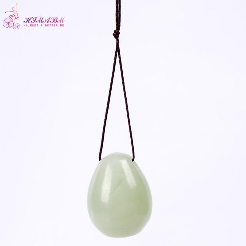 Aliexpress Buy Himabm Natural 1 Piece Drilled Jade Egg Yoni
