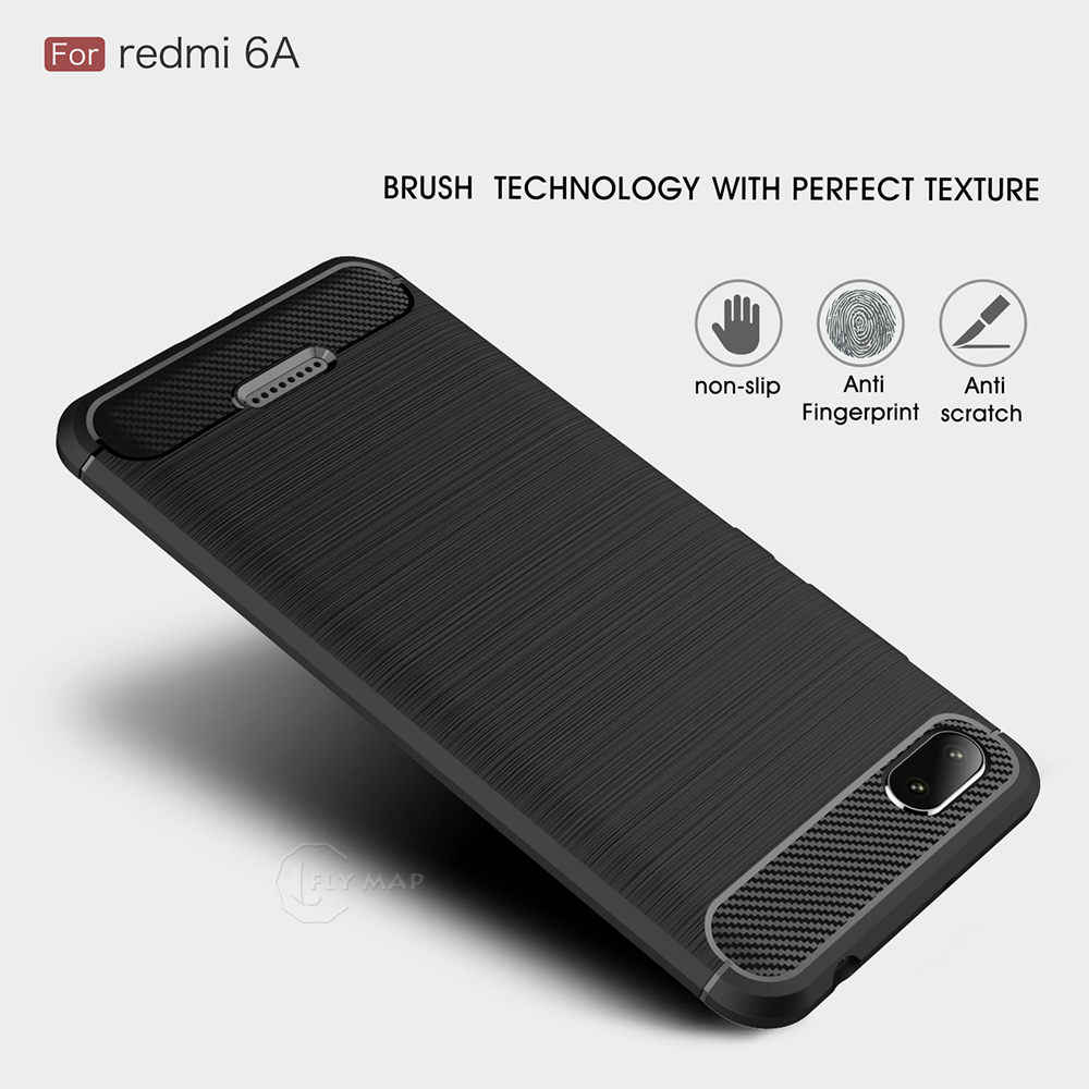 5cd31f110d TPU Case for Xiaomi Redmi 6A A6 Fibre Soft Silicone Phone Cover Coque Capa  for Xiao mi Red 6 A redmi6a M1804C3CT M1804C3DC Bag
