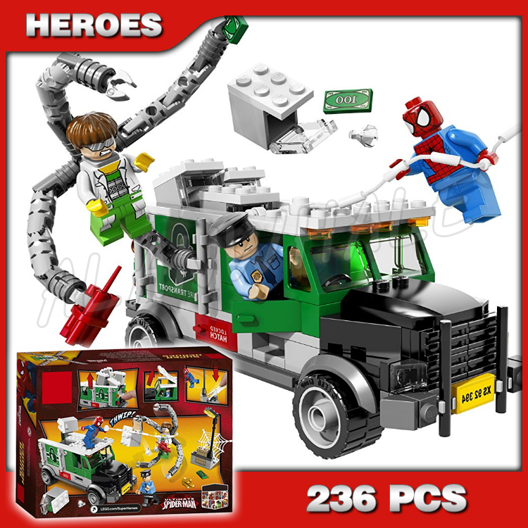 236pcs Super Heroes Spider Man Doc Ock Truck Heist Bank Money 10239 Model  Building Blocks Toys Bricks Compatible with Lago|building blocks|blocks  compatible with legodoc ock - AliExpress