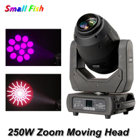 New Disco Light 250W Zoom Moving Head Beam Spot Wash Zoom 4IN1 LED Lyre Light DJ Club Party Bar Wedding Stage Moving Head Light
