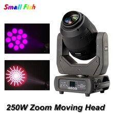 цена на New Disco Light 250W Zoom Moving Head Beam Spot Wash Zoom 4IN1 LED Lyre Light DJ Club Party Bar Wedding Stage Moving Head Light