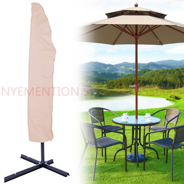 3mX45cm Waterproof Garden Patio Parasol Umbrella Rain Cover Canopy Sunblock  Protective Bag Outdoor Rain Gear Accessories