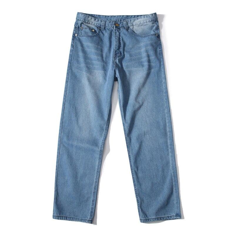 MORUANCLE Mens Baggy Hip Hop Jeans Pants Loose Skateboard Denim Trousers Streetwear Plain Solid Plus Size 30-46