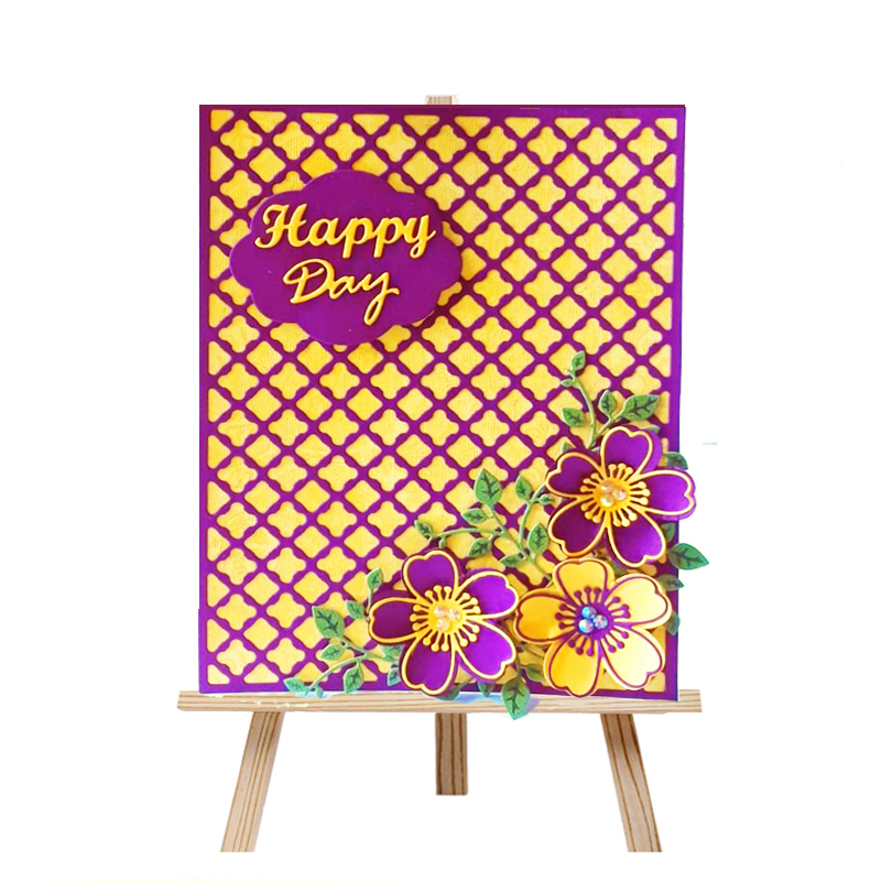 Dolce Vita Background Metal Cutting Dies Lattice Craft Dies Cut Die Scrapbooking Dies for DIY Paper Card making Decoration