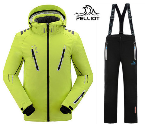 Guarantee the authentic!2018 Pelliot male ski suits jacket+pants Men's water-proof,breathable thermal cottom-padded snowboard