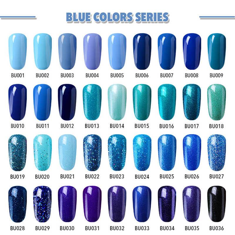 Elite99 10ML Blue GEL เล็บ UV LED เจลเล็บเคลือบเงา HYBRID Soak Off เจล Lacquer Lucky สีเล็บเจล Gellak