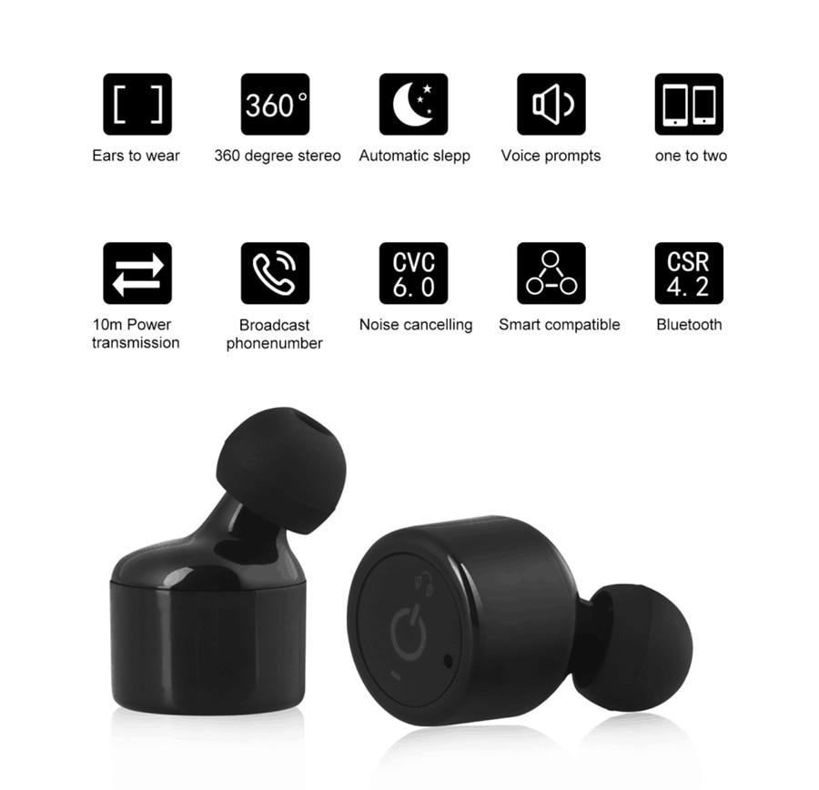 Blizanci True Wireless Bluetooth slušalice NiUB5 X1T Mini Nevidljivi - Prijenosni audio i video - Foto 4