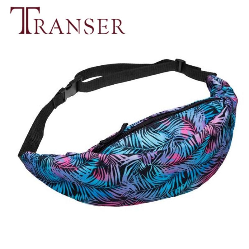 TRANSER Colorful Waist Bag New Fashion Waist Packs Belt Waist Bag Pouch Zip Fanny Pack High Quality Famous Design b23 30 colorful striped high waist dress