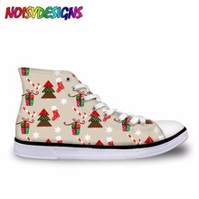 Female Cute Vintage Woodland Christmas Frenchie Casual Vulca