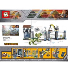 Dinosaurs Park DIY Blocks Jurassic World Figures Building Assemble Classic With Legoings Kids Toys