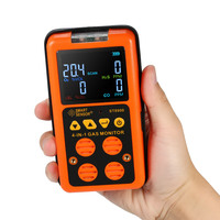 4 в 1 детектор газа CO монитор детектор угарного газа сероводород газ тестер ЖК дисплей Звук + свет вибрационная сигнализация нам