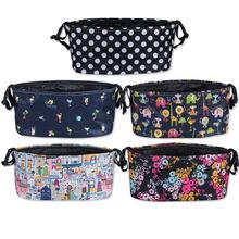 Baby Stroller Accessories Diaper Nappy Bag Waterproof Large Capacity Cartoon Color Folding Animal Stroller Organizer Bag