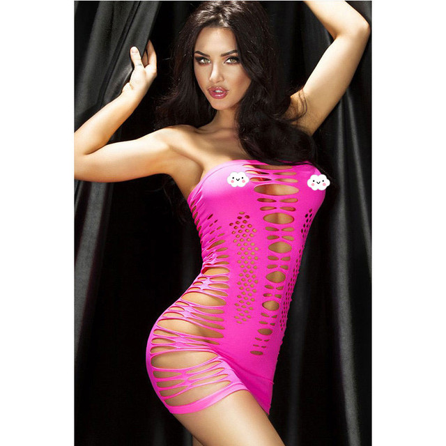 Sexy Rose Lingerie Erotica Hot Hollow Out See-Through Bodysuit Lingerie Women Sexy Costumes Body Suits For Women Yellow