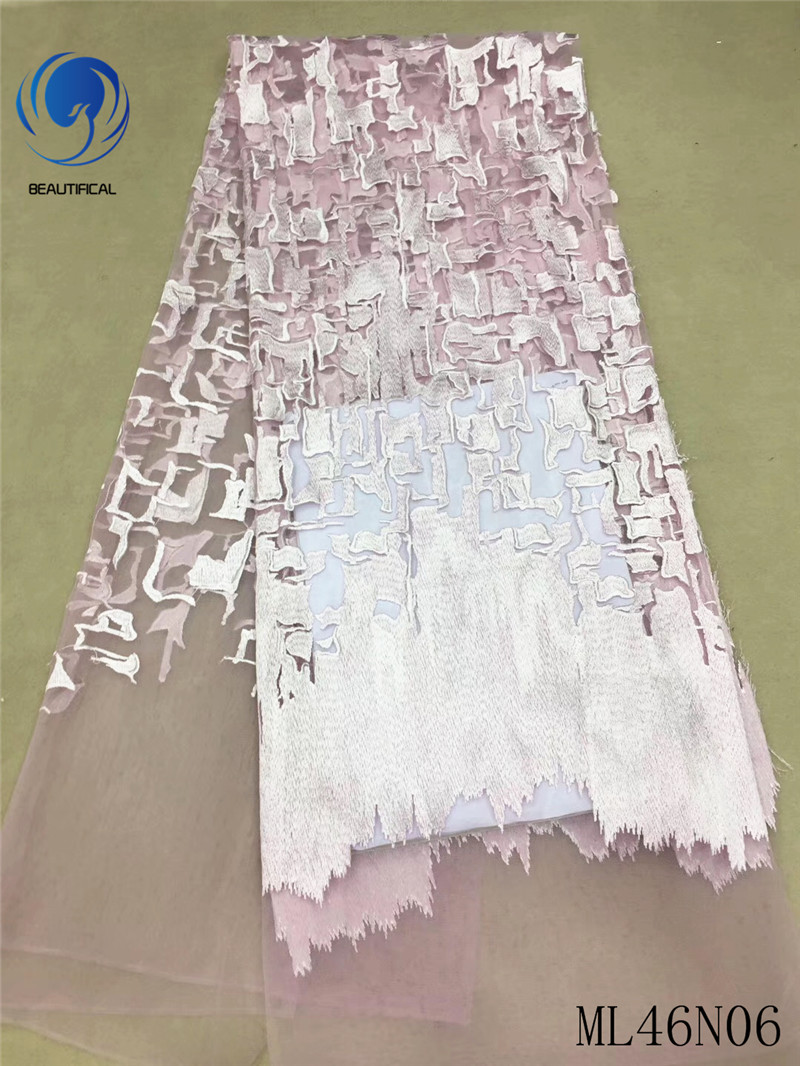 BEAUTIFICAL high quality lace nigerian lace fabric 2019 luxury lace fabric elegant lace fabrics wholesale 5yards/lot ML46N06BEAUTIFICAL high quality lace nigerian lace fabric 2019 luxury lace fabric elegant lace fabrics wholesale 5yards/lot ML46N06