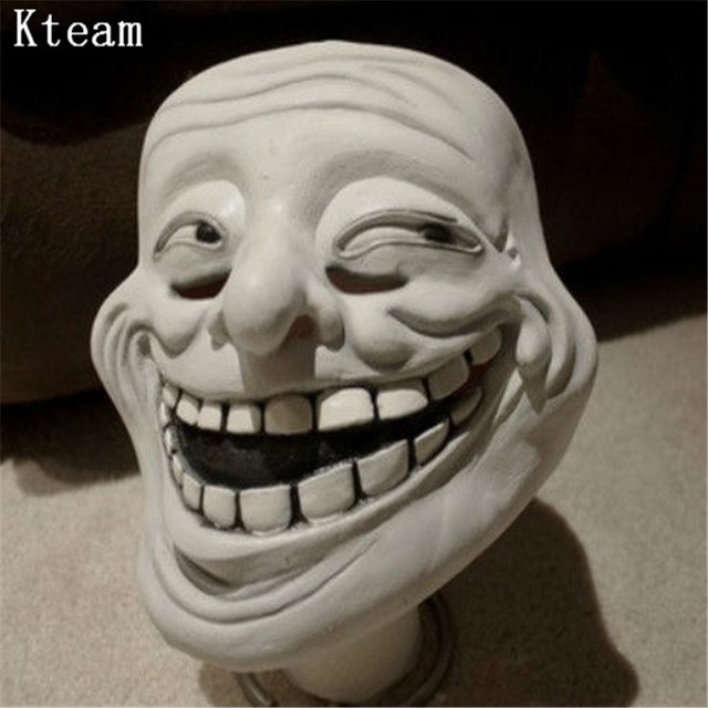 2017 halloween party cosplay realistic latex troll face mask full 2017 halloween party cosplay realistic latex troll face mask full head clown head mask joker funny voltagebd Image collections