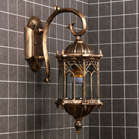 Newest popular retro outdoor wall light favorable europe villa sconce lamp waterproof exterior garden doorway lighting