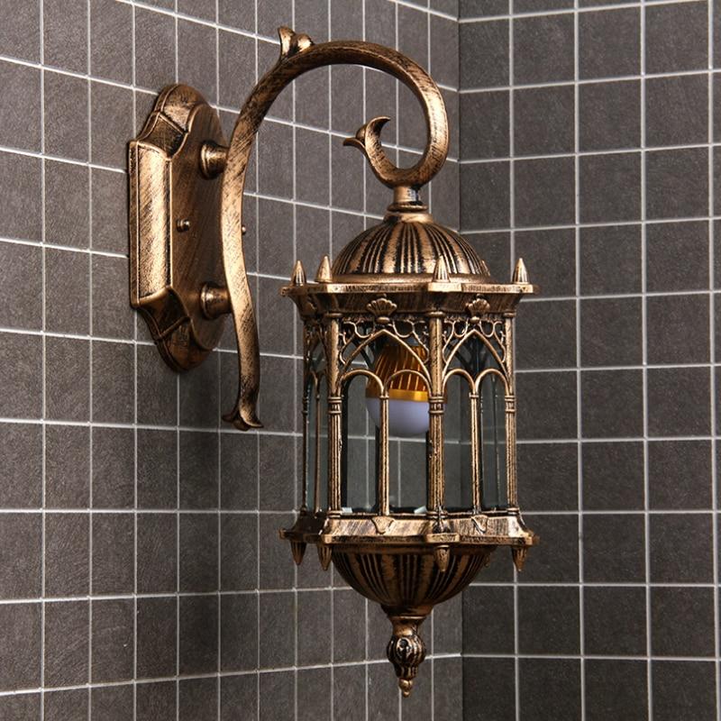 Newest Popular Retro Outdoor Wall Light Favorable Europe Villa Sconce Lamp Waterproof Exterior Garden Doorway Lighting