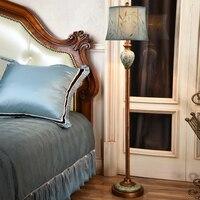 High end Ретро пасторальный Винтаж Американский ручная роспись смолы Ткань LED E27 Торшер для Гостиная Спальня H 150 см 1061