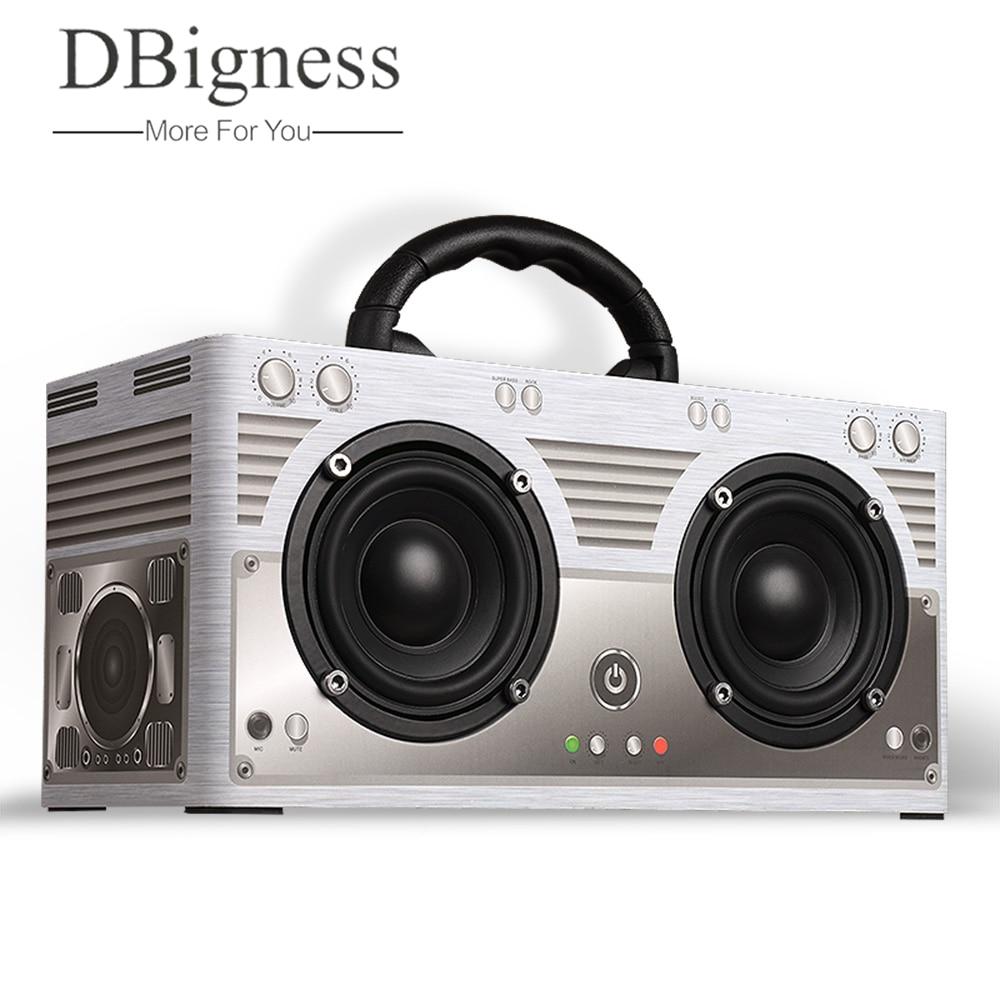 Dbigness 20W Bluetooth speaker Cardboard Portable Speaker Music Column Stereo Speaker Super Bass Boombox Car Outdoor