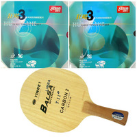 Pro Table Tennis/ PingPong Combo Racket: Galaxy YINHE T 11+ with 2x DHS NEO Hurricane 3 Long Shakehand FL