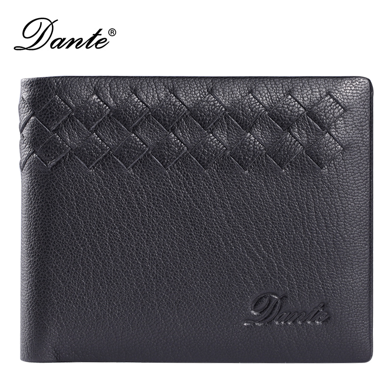 Fashion Genuine Leather Men Wallets Luxury Brand Dante Soft Sheepskin Card Holder Money Bag Famous Delicate Short Men's Wallet