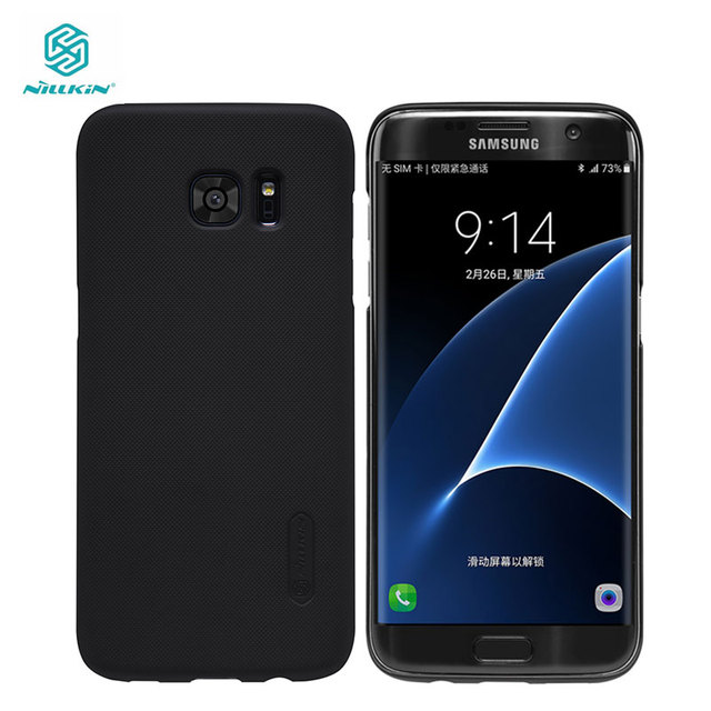reputable site ee7c3 39131 US $7.19 20% OFF|Case For Samsung Galaxy S7 Edge Nillkin Frosted Shield  Cover sFor Samsung Galaxy S7 Edge Case 5.5 inch-in Fitted Cases from ...