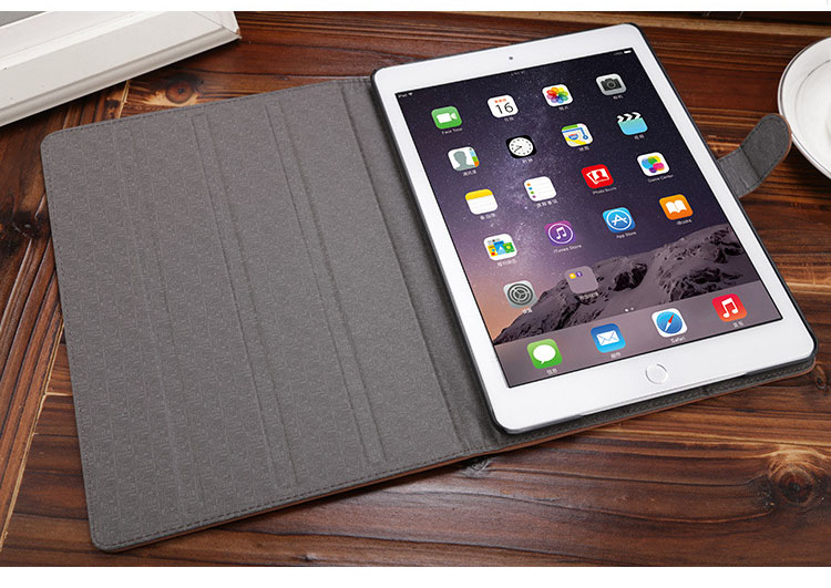 Leather folio case for Ipad mini1 mini2 mini3 case,Solid auto wake up sleep holder tablet protective shell with hasp A1600 cover