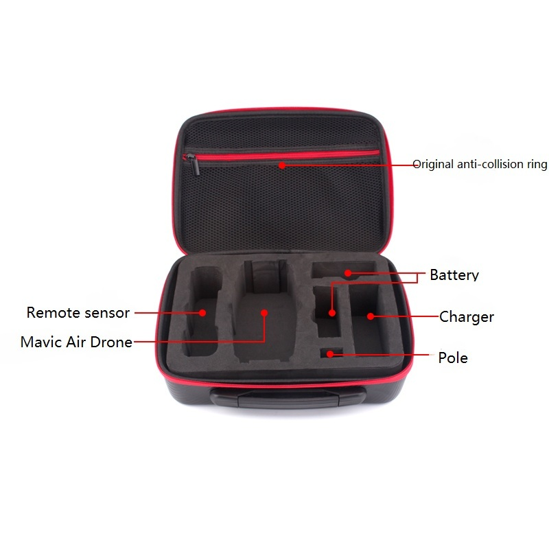 Waterproof PU Handbag Hardshell Storage Bag Carrying Case for DJI MAVIC Air Drone Controller 2 Batteries Accessories in Drone Accessories Kits from Consumer Electronics