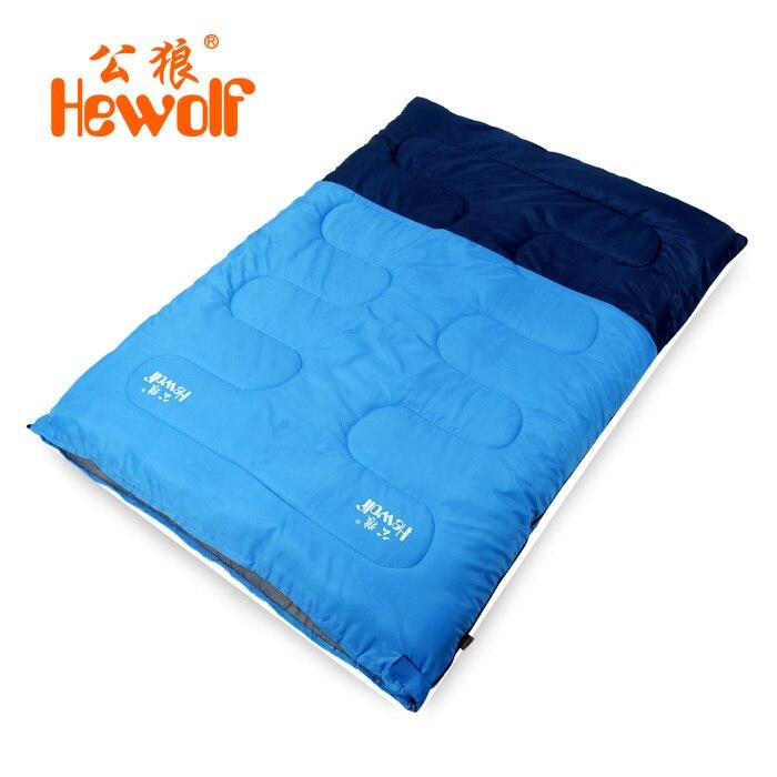 ФОТО Outdoor Adult Camping Envelope Sleeping Bags Emergency Sleep Bag Can Be Split Into Two Single Sleeping Bags Winter KU-539