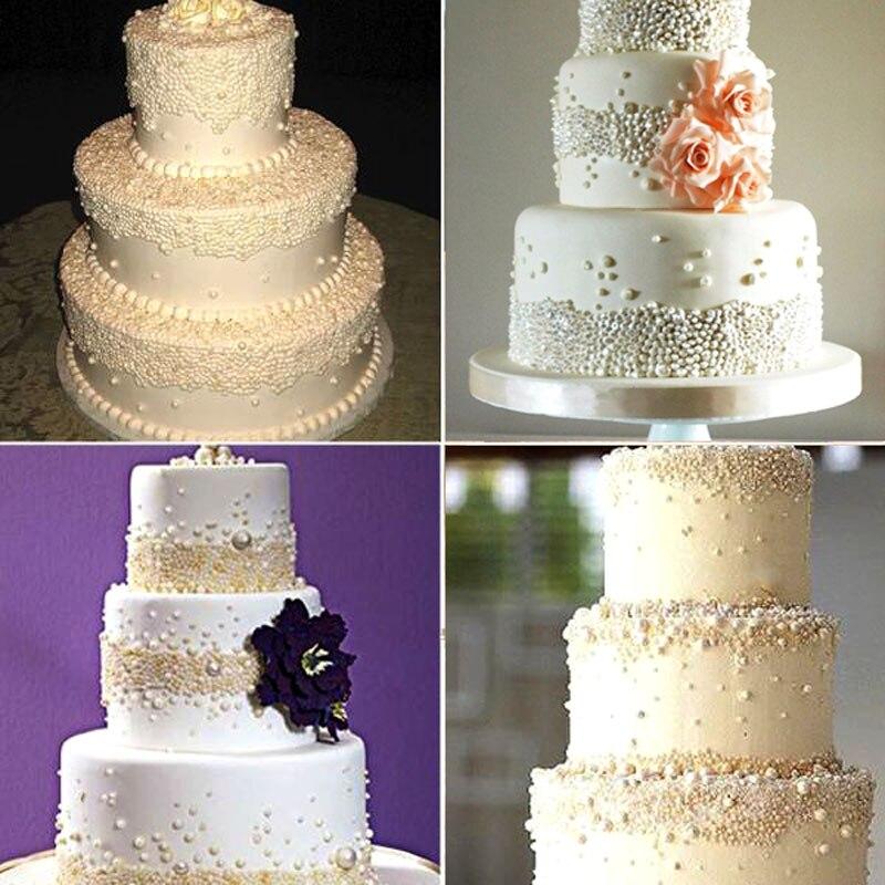 3D Silicone Pearl Lace Border Non stick Wedding Fondant Cake ...